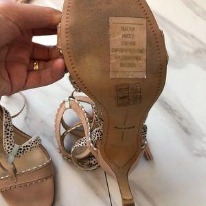 Dolce Vita Shoes - Dolce Vita lace up snake heels sandals size 8.5